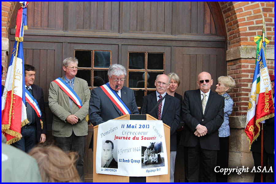 Crevecoeur-le-Grand - Speech of Mr Coet, Mayor
