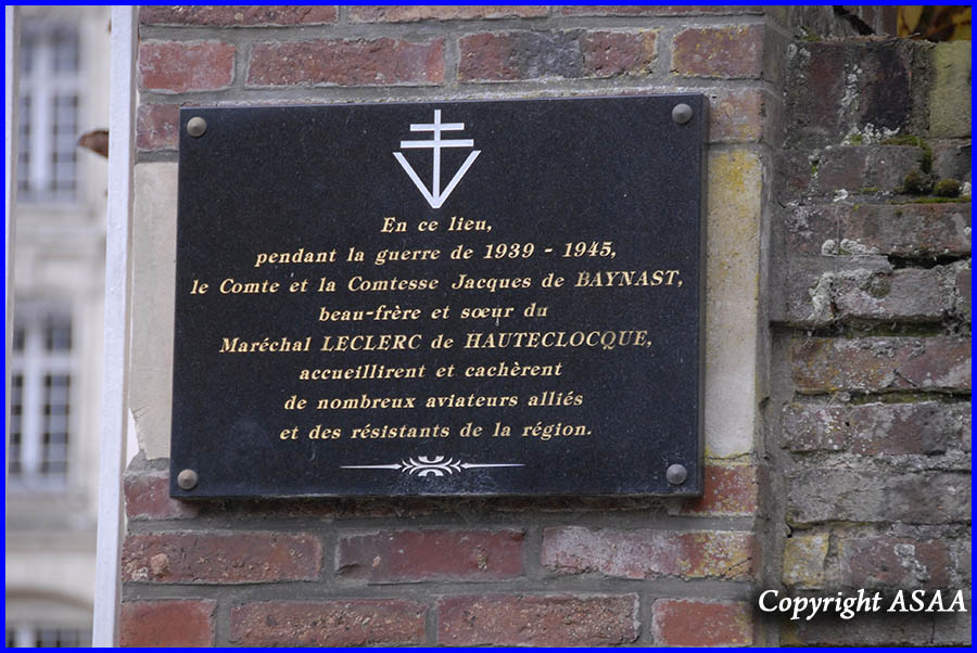 Chateau de La Borde - The plaque