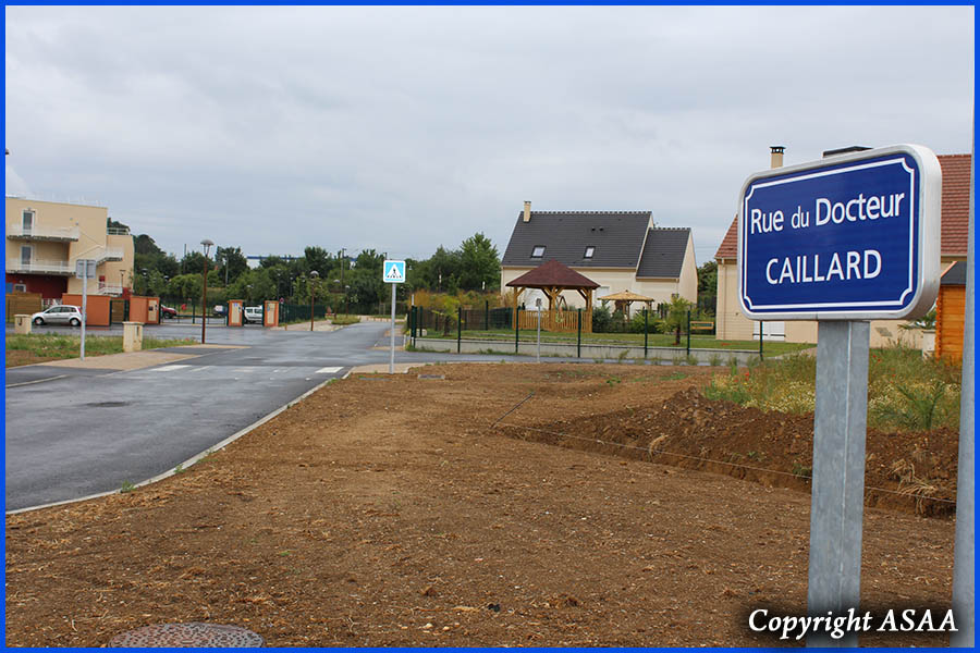 Saint Just-en-Chaussee - The street named after Dr. Caillard